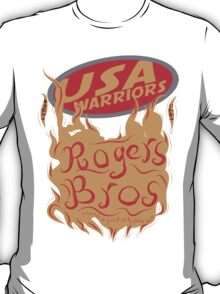 usa warriors flames by rogers bros T-Shirt
