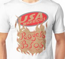 usa warriors flames by rogers bros Unisex T-Shirt