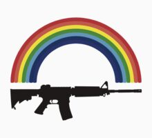 Rainbow Gun T Shirt by Fangpunk
