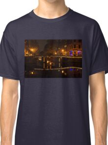 Amsterdam Night in Yellow and Purple Classic T-Shirt