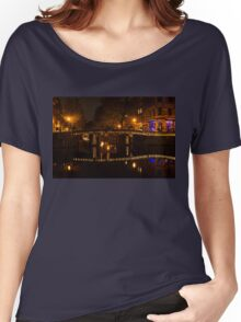 Amsterdam Night in Yellow and Purple Women's Relaxed Fit T-Shirt