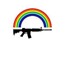 Rainbow Gun T Shirt Photographic Print