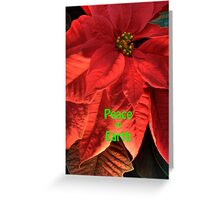 Peace on Earth Poinsettia Greeting Card