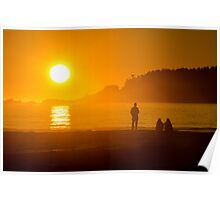 Sunset on Chesterman's Beach Poster