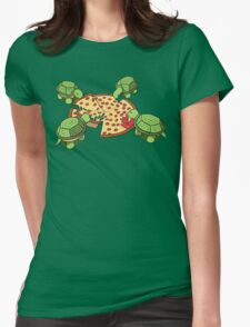 Hungry Hungry Turtles Womens Fitted T-Shirt