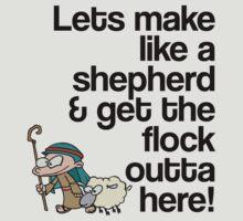 Make like a Shepherd & get the flock outta here by gemzi-ox