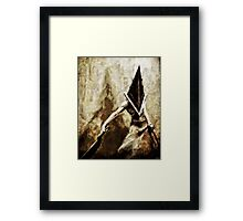 Pyramid Head Framed Print