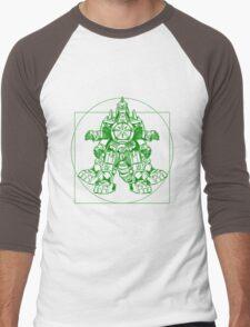 Vitruvian Dragon Zord Green Men's Baseball ¾ T-Shirt
