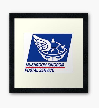 mushroom kingdom postal service Framed Print