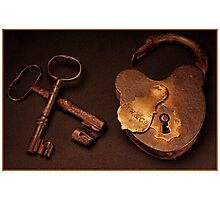 Keys To My Heart Photographic Print