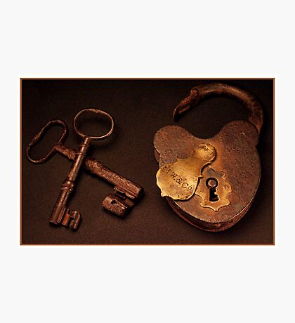 Keys To My Heart Photographic Print