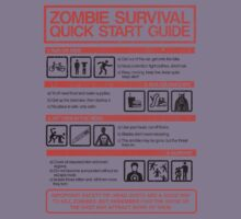 Zombie Survival - Quick Start Guide Kids Clothes