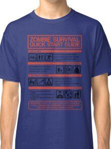 Zombie Survival - Quick Start Guide Classic T-Shirt