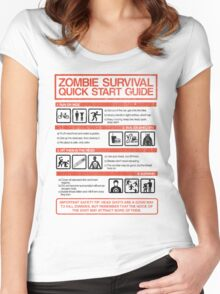 Zombie Survival - Quick Start Guide Women's Fitted Scoop T-Shirt