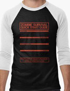 Zombie Survival - Quick Start Guide Men's Baseball ¾ T-Shirt