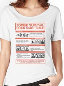 Zombie Survival - Quick Start Guide Women's Relaxed Fit T-Shirt