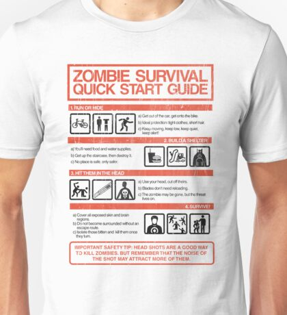 Zombie Survival - Quick Start Guide Unisex T-Shirt