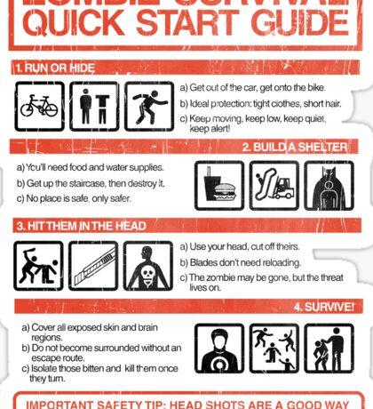 Zombie Survival - Quick Start Guide Sticker
