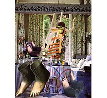 Feet Under the Table. Photographic Print