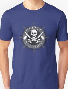 Pirate University Black and white T-Shirt