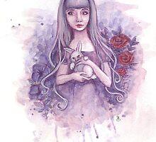 Alice in Wonderland and the White Rabbit by Rebecca Barkley