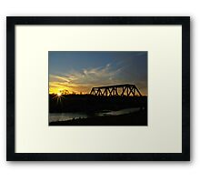 Dusk on the Rails Framed Print