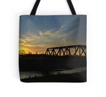 Dusk on the Rails Tote Bag