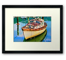 Old Boat in Marina Framed Print