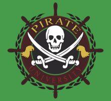 Pirate University Color Kids Tee