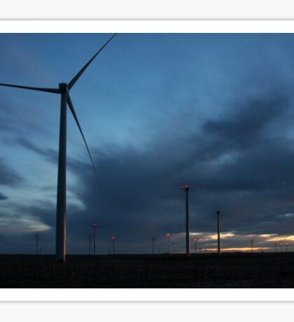 Wind Turbine Sunset #3 Sticker