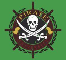 Pirate University Distressed One Piece - Short Sleeve