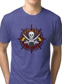 Pirate University Distressed Tri-blend T-Shirt