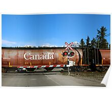 Railroad Crossing - Jasper National Park Poster
