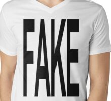 FAKE Mens V-Neck T-Shirt