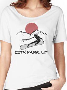 City Park, Utah Snowboarding Women's Relaxed Fit T-Shirt