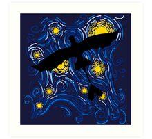 NightFury Sky Art Print