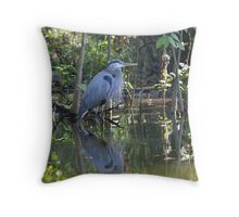 Great Blue Heron Dead River, Florida Throw Pillow