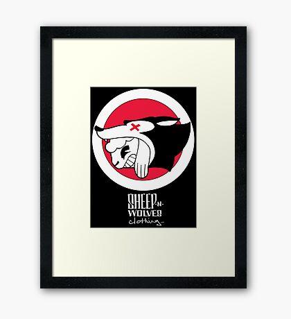 Sheep-n-Wolves Clothing Logo Framed Print