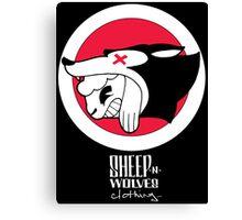 Sheep-n-Wolves Clothing Logo Canvas Print