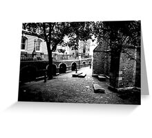 The yard of Temple Church Greeting Card