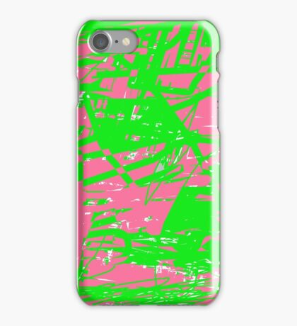 Funk (neon green and pink) iPhone Case/Skin