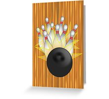 Bowling Strike  Greeting Card