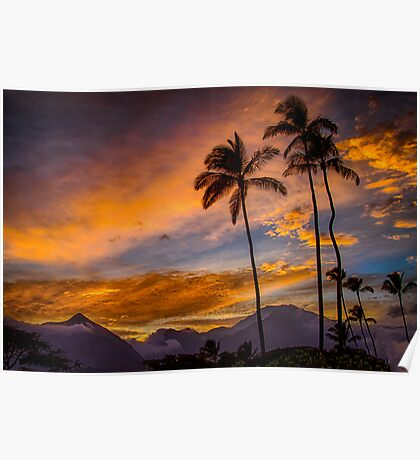 Maui Sunset 10/6/12 Poster