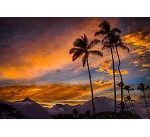Maui Sunset 10/6/12 Photographic Print