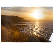 Sundown on Tasmania, near Devonport Poster