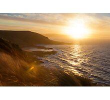 Sundown on Tasmania, near Devonport Photographic Print