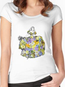 Dancing Flower Princess Women's Fitted Scoop T-Shirt