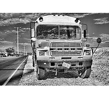 Abandon Bus Photographic Print