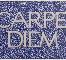 Carpe Diem Light Blue by Donna Huntriss
