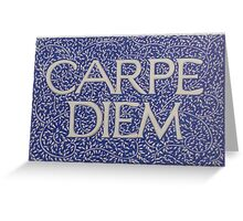 Carpe Diem Light Blue Greeting Card